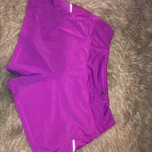 Athleta Purple Shorts with Mesh on Sides